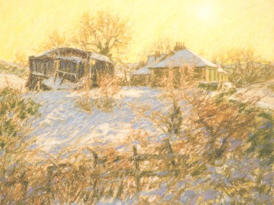 Winter Light - Spango Valley (Greenock snowscape)