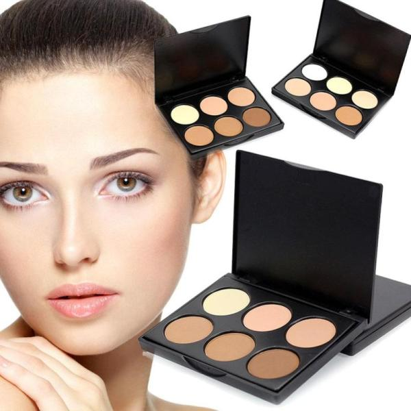 6 Colors Face Highlighter Powder Palette