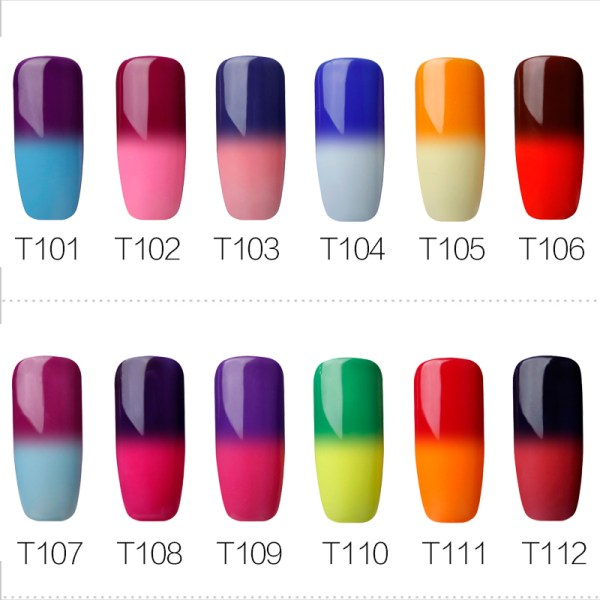 Temperature Color Changing UV Nail Art Gel