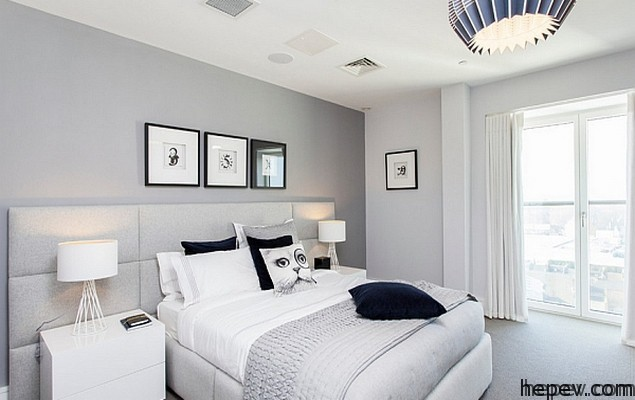 white coloured bed