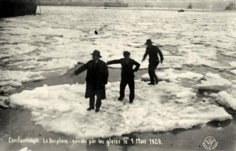 Eski Istanbul - Tuna Nehrinden Bogaza Gelen Buzlar