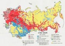 USSR Ethnic Groups 1974