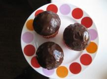 Chocolate Glazed Donut Muffins