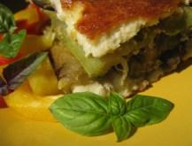 Mediterranean Vegetable and Mint Pesto Millefeuilles from kopiaste.org