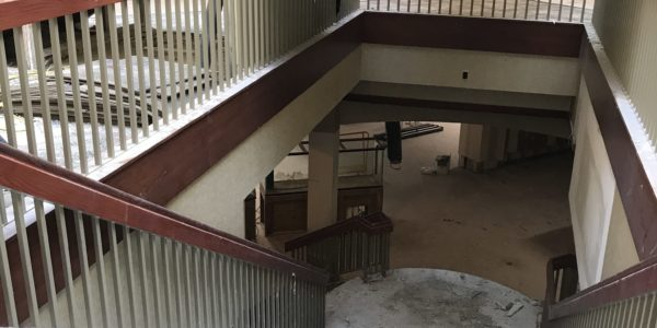 Looking down into Youth Services from the main floor.