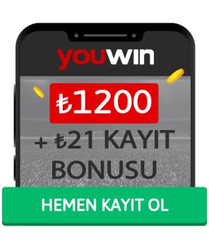 Youwin Hoş Geldin Bonusu - 1200₺