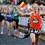 Running for the Belgian Flag