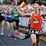 Running for the Belgian Flag
