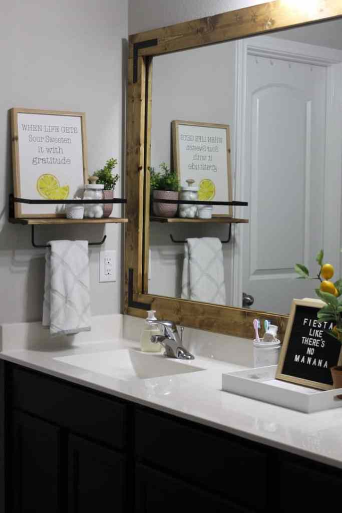 bathroom updates on a budget