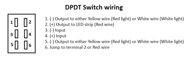 red/white led strip dpdt wiring diagram – heraco lights