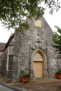 Eglise St Martin de Curzay-sur-Vonne, façade occidentale