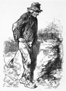 Paysan, gravure de Jacques Adrien Lavieille,