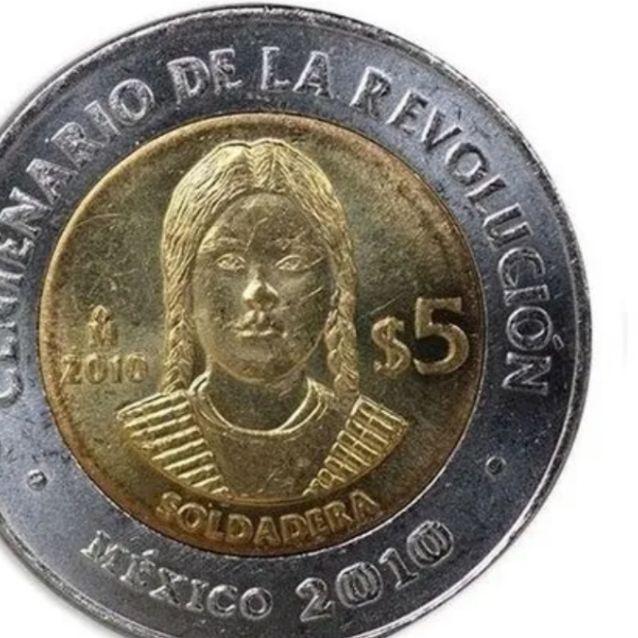 Moneda de 5 pesos de 'La Soldadera' se VENDE en más de DOS MIL PESOS | El  Heraldo de México