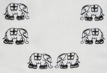 Six elephants