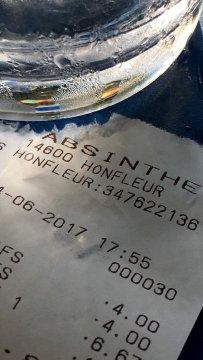 Normandie Honfleur l'Absinthe Rechnung