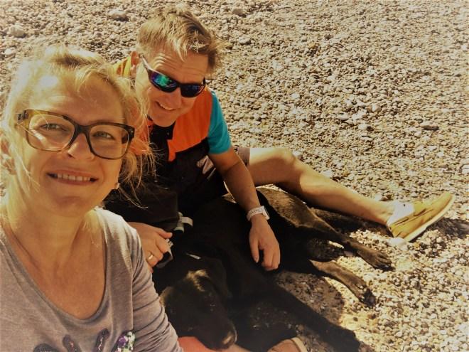 Sven, Milla und Sylvia am Strand