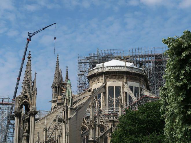 Notre Dame von hinten