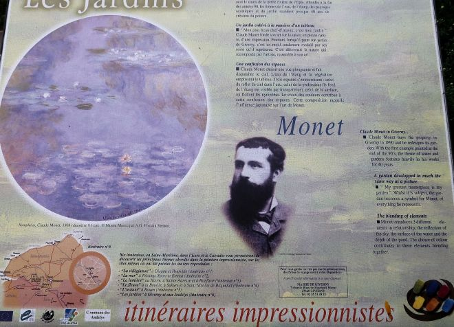 Infotafel Claude Monet Giverny