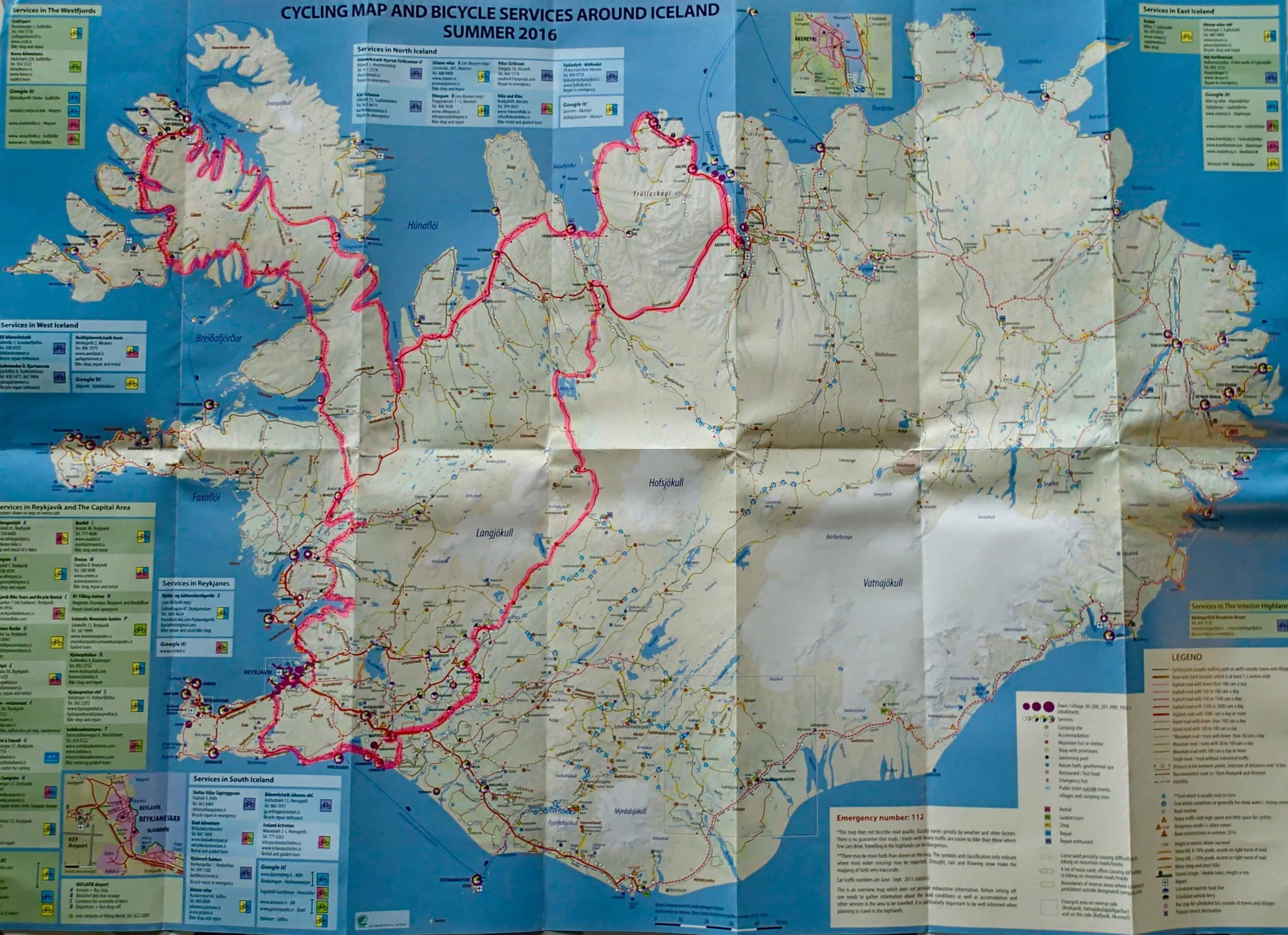 Mijn route op IJsland