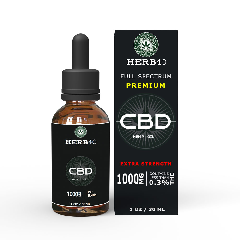 herb40 herbforty high quality extra strength CBD oil uk 30ml 1000mg
