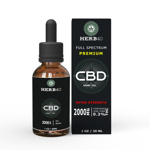herb40 herbforty cheap extra strength CBD oil 30ml 2000mg