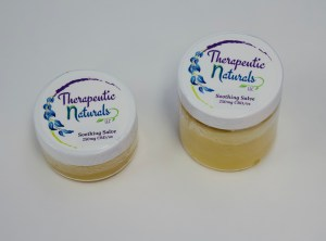 CBD infused salves by Therapeutic Naturals LLC available at Herbaceous Inc.