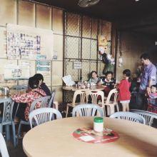 Coffee shop inside the market