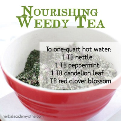 nourishing weedy tea