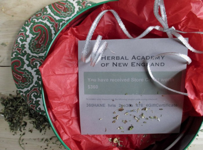 herbal academy gift certificate