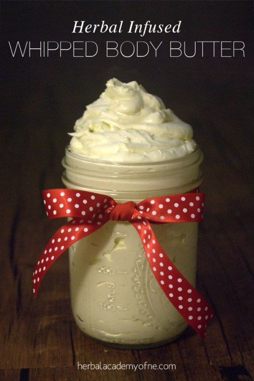 Herbal Infused Whipped Body Butter Recipe on the Herbal Academy of New England