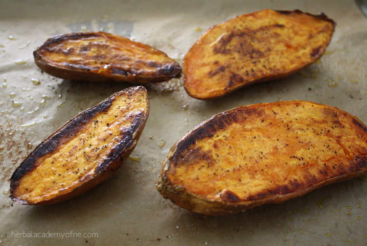 Healthy Stuffed Sweet Potatoes with Cashew Queso - Herbal Academy blog