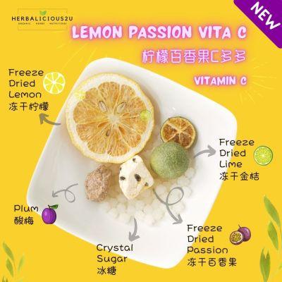 lemon passion vita C fruit juice freeze dried rich in vitamin C drinks 3