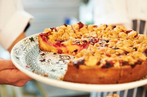 Redcurrant Custard Tart