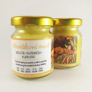 Nechtíková masť s rumančekom a kurkumou_herbariumprojekt.sk