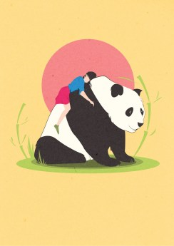 A just for fun illustration for my girlfriend because she likes pandas
