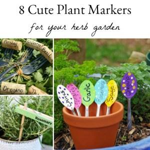 8 Cute DIY Herb Garden Plant Markers. #herbgarden #gardening