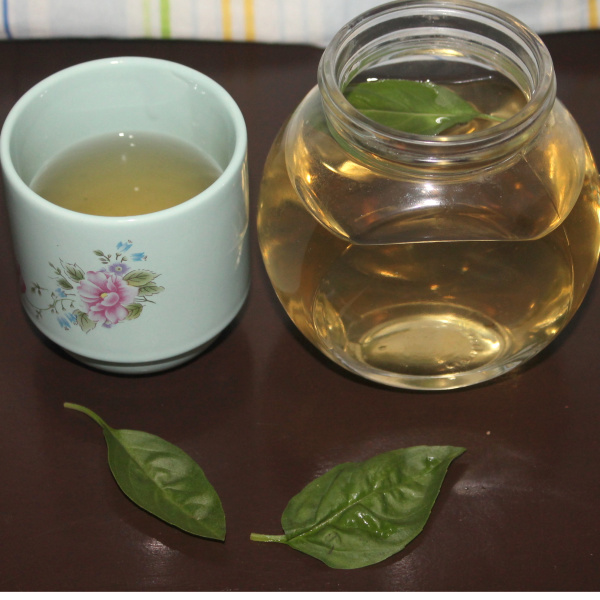 Simple Stress Busting Basil Tea Recipe.