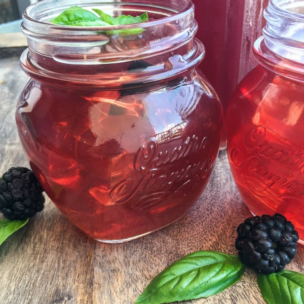 This Instant Pot Blackberry Basil Iced Tea Recipe is the perfect way to cool down on a hot summer day.