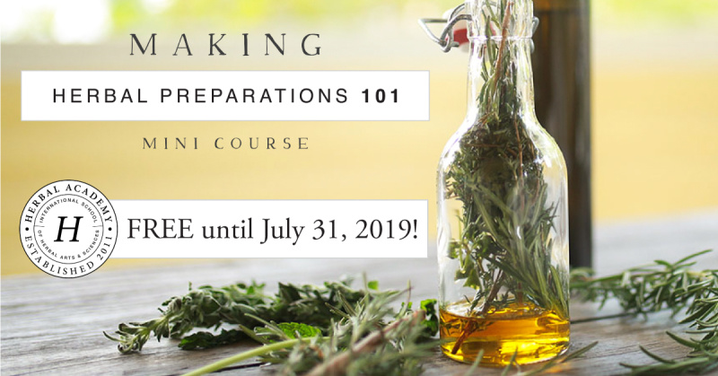 Learn how to make your own herbal preparations with this free online mini course
