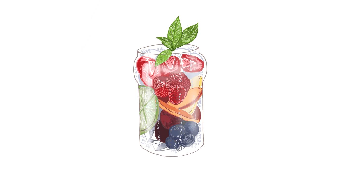 Beauty Mocktails on Ice | Image by Wren McMurdo for Herbivore Botanicals