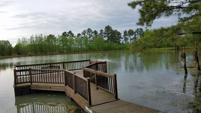 The lake and fishing pier