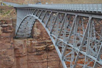 The Navajo Bridge crossing the Colorado River