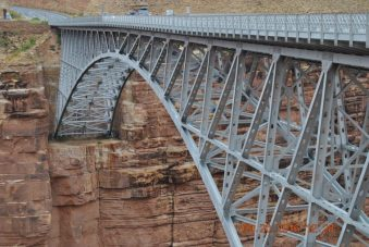 The Navajo Bridge crossing the Colorado River