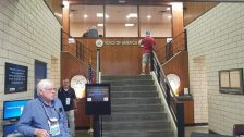 Front lobby of VOA - my buddy Dave in the foreground and Ed at the top of the stairs.