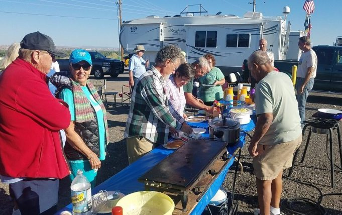 A pancake breakfast for the volunteers