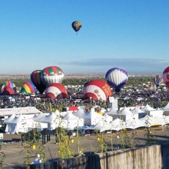 Balloons at Mass Ascension
