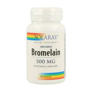 Bromelaina 500mg – Solaray – 60 capsulas