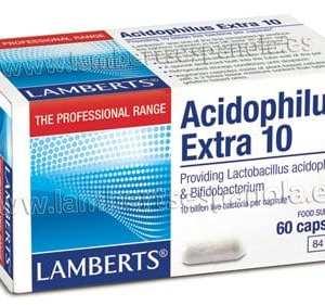 Acidophilus Extra 10 – Lamberts – 60 cápsulas