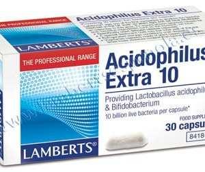 Acidophilus Extra 10 – Lamberts – 30 cápsulas