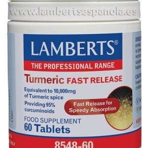 Cúrcuma – Liberación Rápida – Lamberts – 60 comprimidos